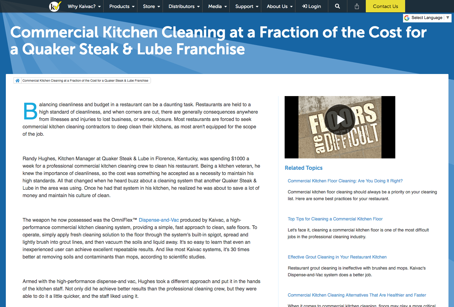 Commercial Kitchen Cleaning at a Fraction of the Cost for a Quaker ...
