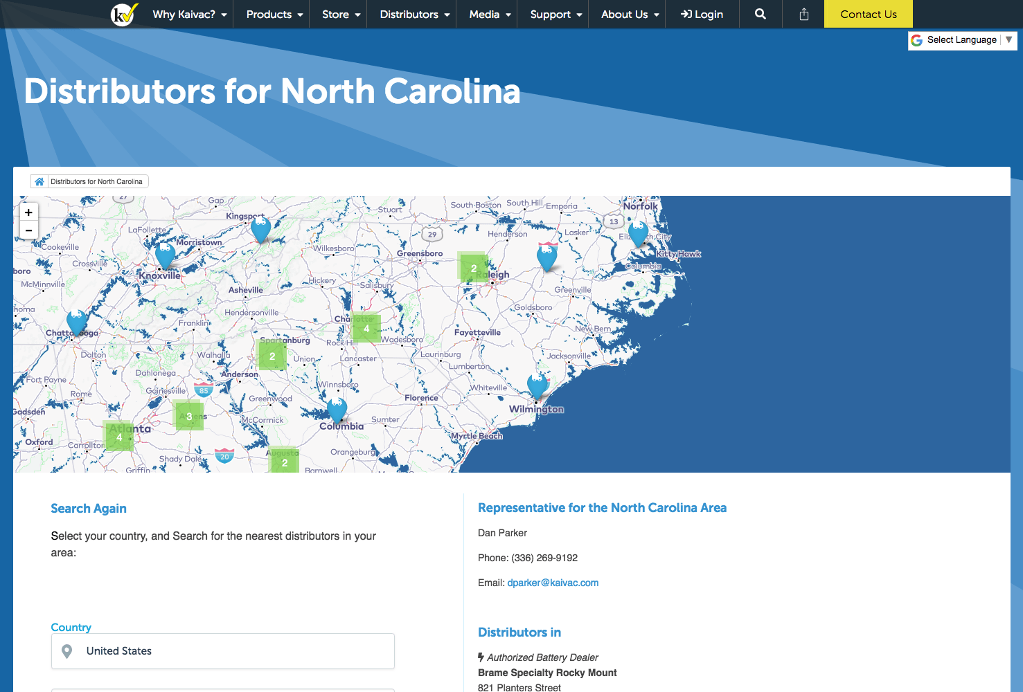 Distributors for North Carolina - Kaivac Cleaning Systems