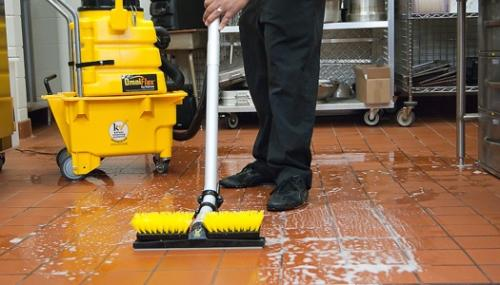 Commercial Kitchen Cleaning Why A Mop Won T Cut It