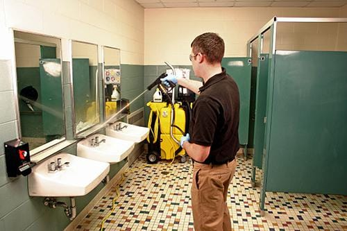 Proper hospital restroom cleaning procedures kaivac for Housekeeping bathroom cleaning procedure
