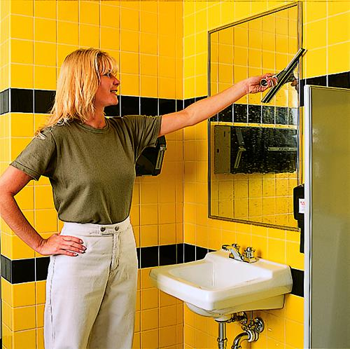 Problems With Cleaning Mirrors in Your Restroom